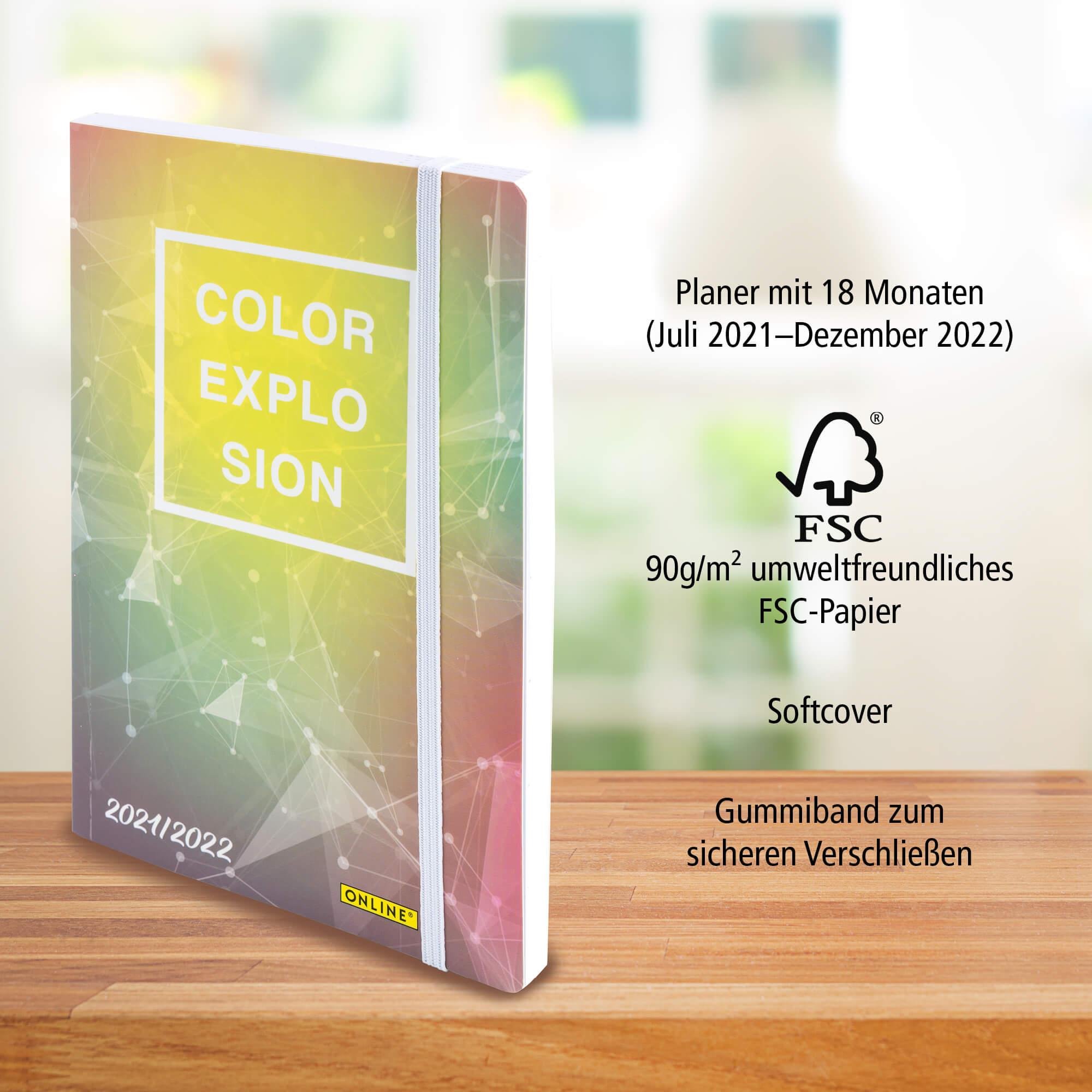 Creative Diary, Schülerplaner mit 18 Monaten (Juli 2021- Dez. 2022)