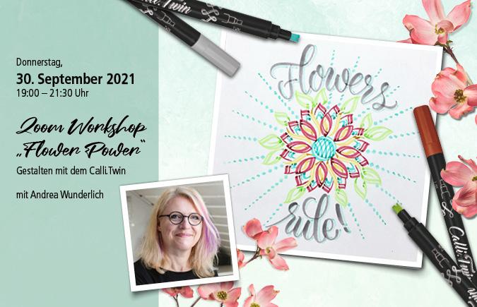 "Live-Workshop Kurs ""Flower Power"" 30.09.2021 - inkl. Material-Paket"