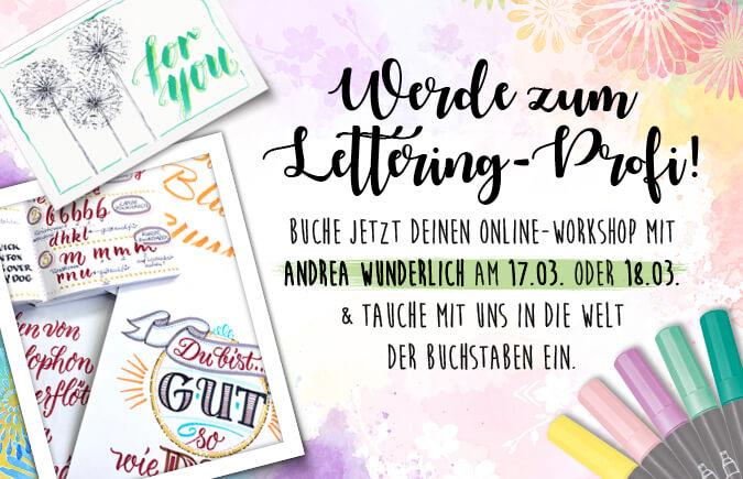Lettering Workshop Kursanmeldung