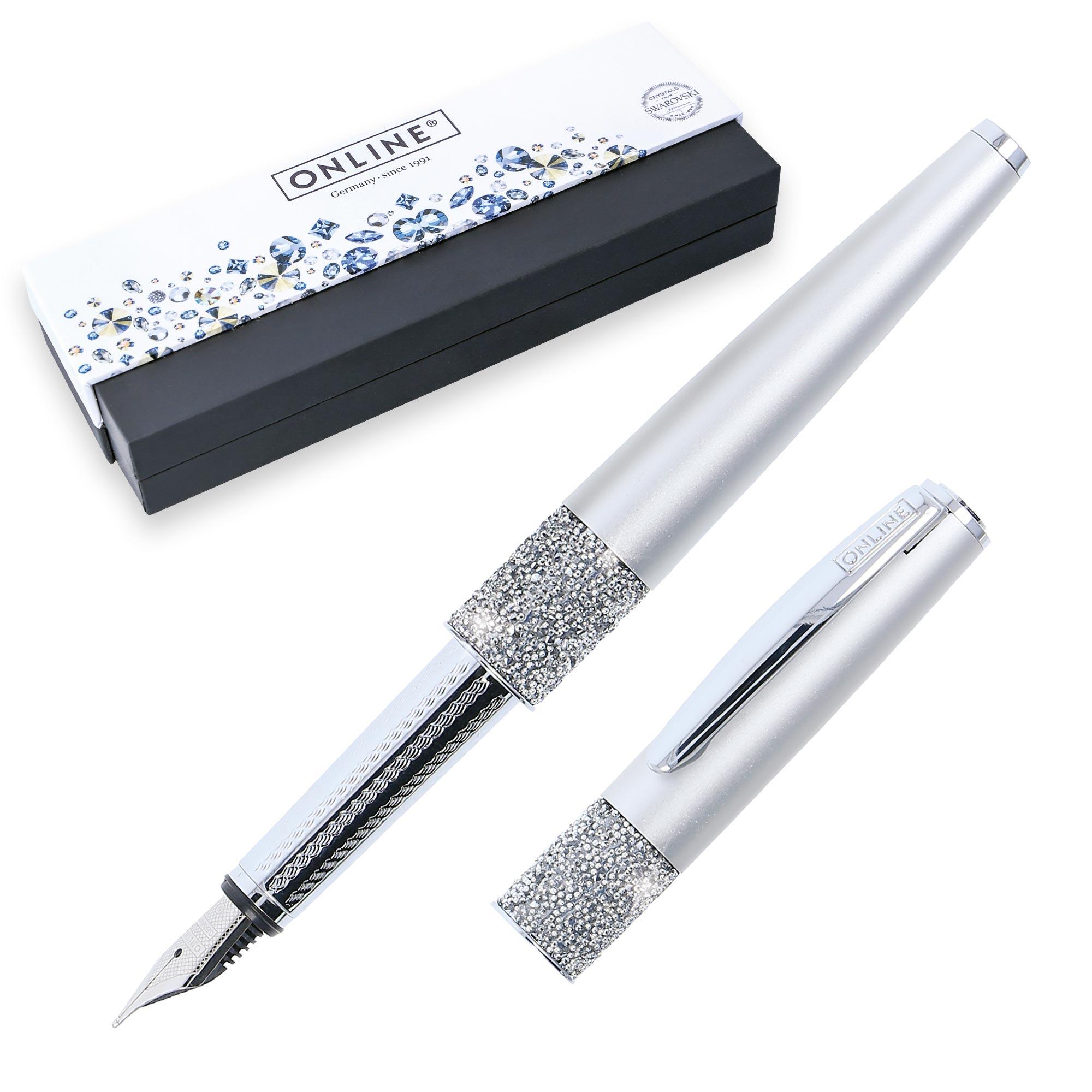 Füller mit Swarovski Kristallen