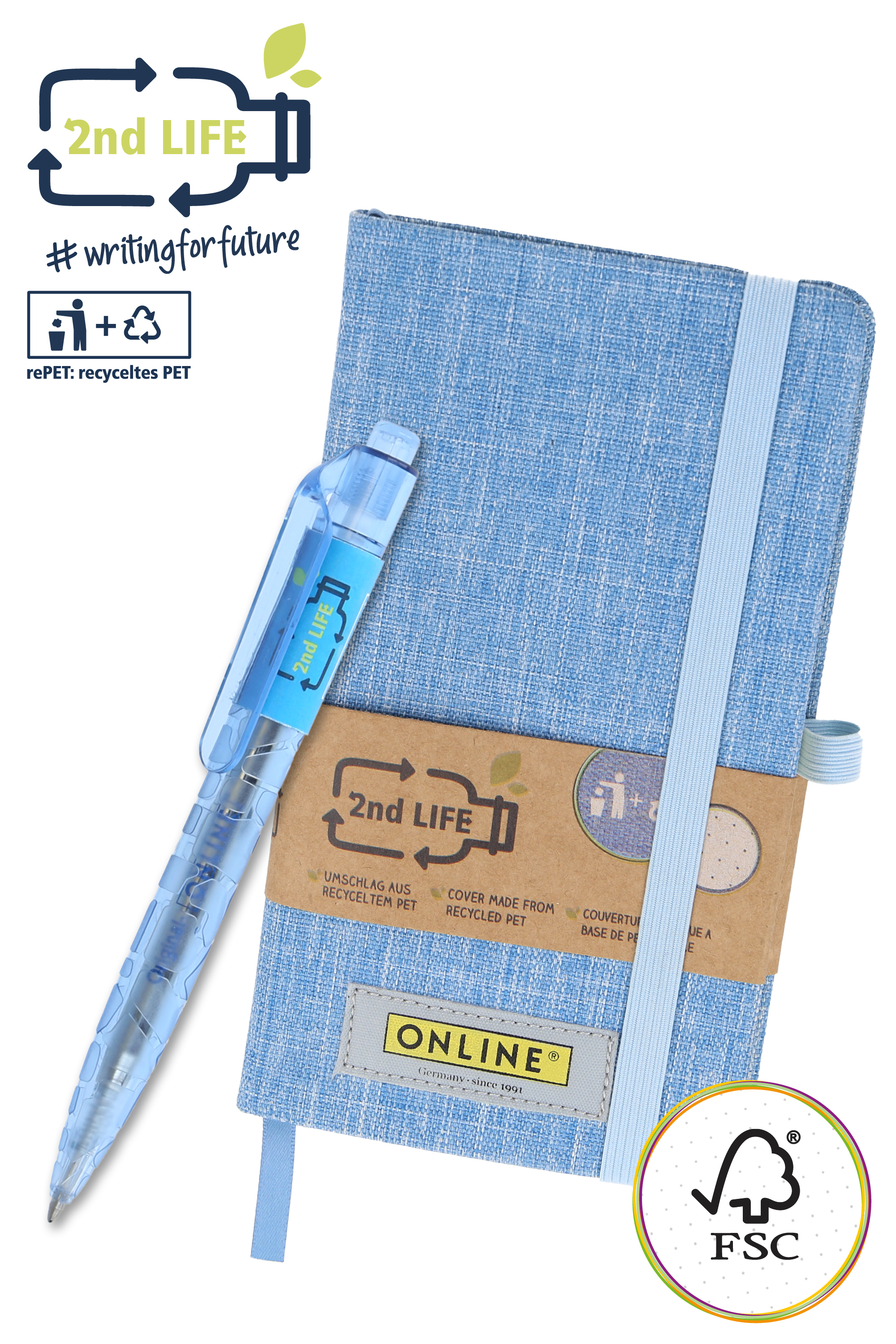2nd LIFE Set Bullet Journal A6 mit Kugelschreiber
